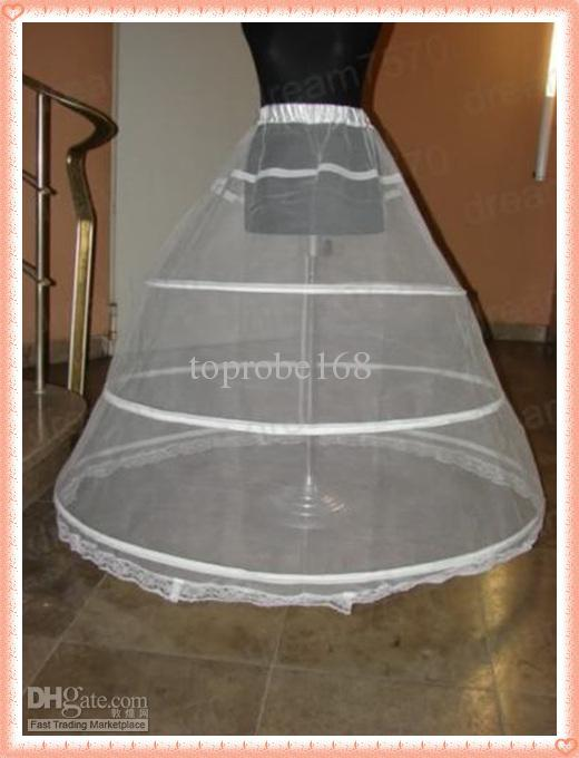 CRINOLINE PETTICOAT 3 HOOP BONE FULL WEDDING SKIRT SLIP DRESSES BRIDAL PROM GOWNS