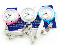 Wholesale Mixed Colour Watches - 20 Pcs Sinobi Steel Hang Nurse Watch Pocket Watch The brooch fixs the style Quartz Watch Mix Colours