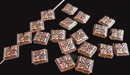 Wholesale Diamond Bead Spacer - 180pcs Antiqued copper plt cross diamond spacer beads A59C