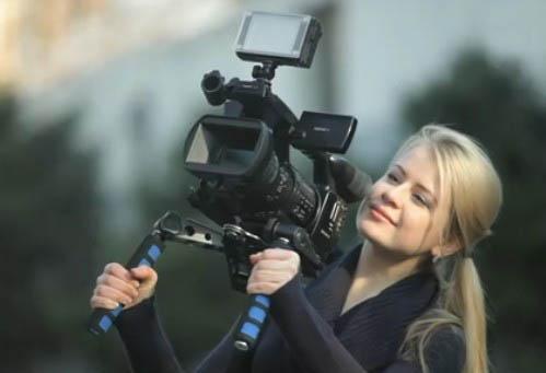 촬영을위한 DSLR 조작 동영상 키트 어깨 마운트를 들어 비디오 카메라 캐논 5D II III DSR-PD198P AG-HMC153MC 니콘 D90 DV 쉬운