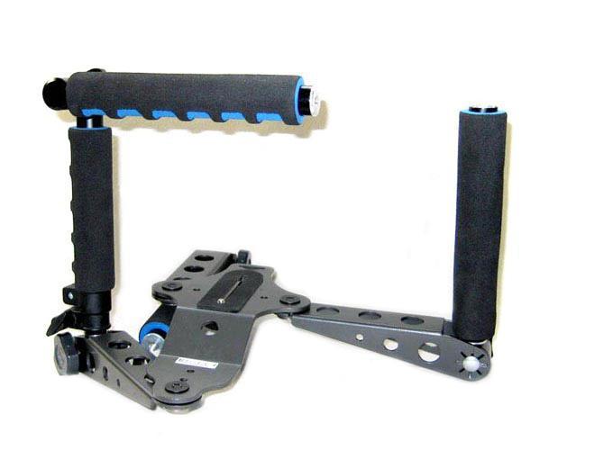 DSLR corredo di film dell'impianto di perforazione supporto della spalla la videocamera Canon 5D II III DSR-PD198P AG-HMC153MC Nikon D90 DV Facile ripresa