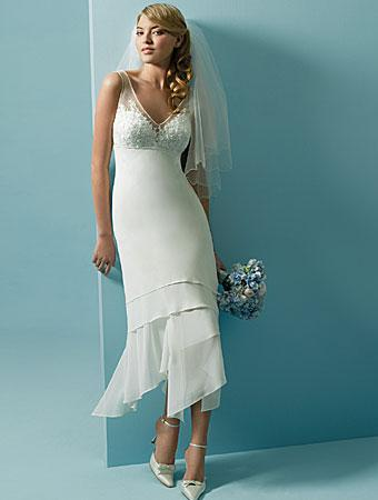 White Slim Short Beach Wedding Dress Bridal Gown Wedding Dresses ...