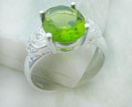 Wholesale Peridot Brand New - Luxury Unique design genuine 925 Silver Peridot Rings size 8 brand new