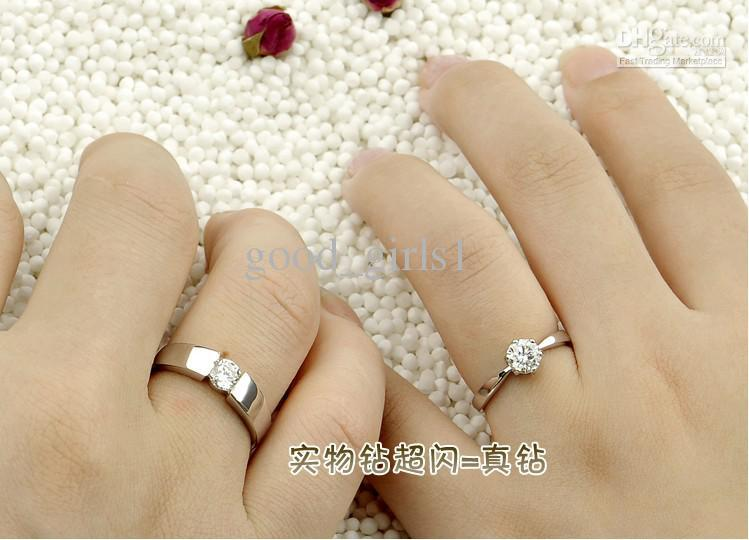 2014 Female Ring 925 sterling silver ring diamond ring couple rings wedding ring Christmas gifts N2