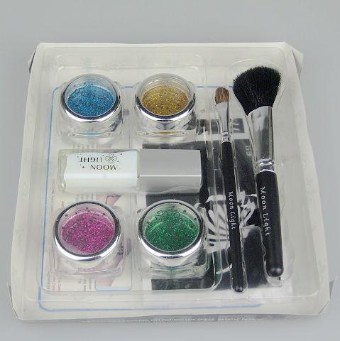 Pro Body Painting Tattoo Kit de lujo 4 Kit de suministro de color Brillo kit de tatuaje Kit de jadeo de diamante BALK4