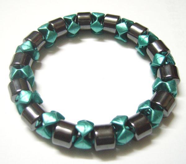 10 unids / lote color de la mezcla magnética pulseras saludables para el arte de bricolaje regalo de joyería de moda 7.5 pulgadas MG2
