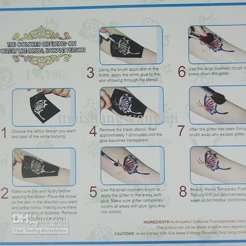 Body Painting Tattoo Deluxe Kit Supply Kit glitter tattoo kit Fluorescent Panting Kit FBK8