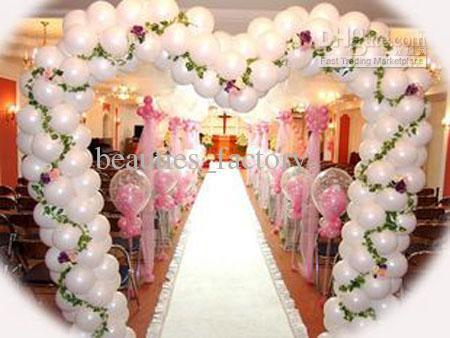 White Round Shape Latex Balloons Wedding Party Decoration Recycle