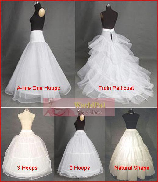 Bridal Wedding Gown Petticoat Skirt Slip Crinoline