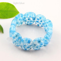 Wholesale millefiori murano glass bracelets - Millefiori big murano lampwork blown venetian glass bracelets jewelry jewellery Mub002-1 high fashion jewelery