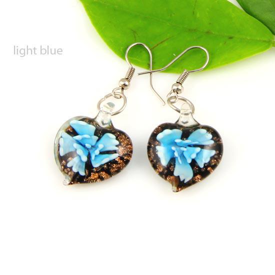 best selling Bloom murano lampwork blown venetian glass dangle earrings jewelry jewellery Mue013 cheap fashion jewelry
