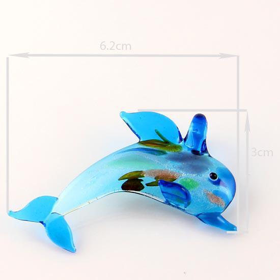 Dolphin foil glitterlampwork colgante veneciano cristal de murano colgantes collares y pendientes joyas Mus001 Joyería de alta moda