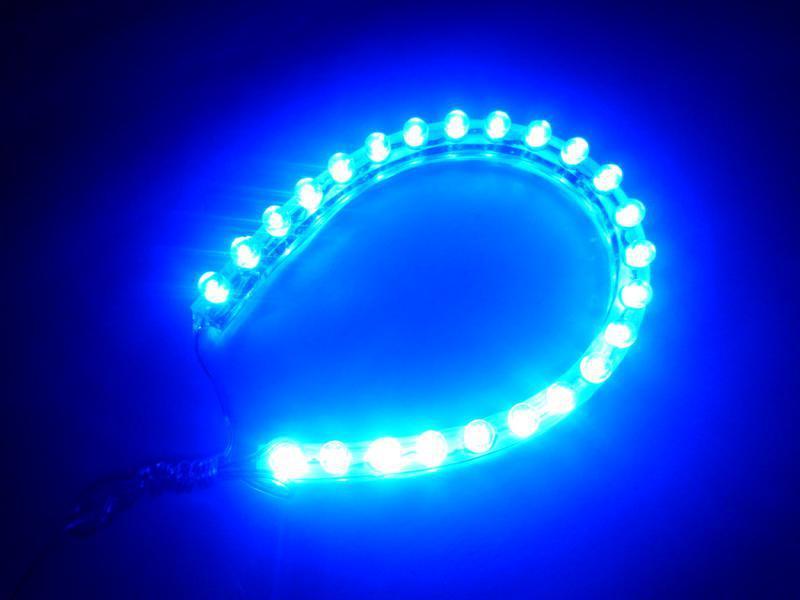 24 Led Pvc Blue Led Car Flexible Strip Light Dc 12v Water
