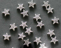 Wholesale ree shipping best Chinese adornment shop tibetan silver star spacer beads mm