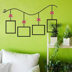 Awesome Wholesale Wall Murals Removable Wall Decals Vinyl Stickers Home Decoration  Bowknot Frame /H 41 Room Wall Stickers Roommates Stickers From  Wangshaolong, ... Part 11