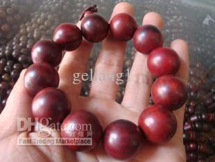 lobular red sandalwood prayer beads, bracelet 20 mm. Successful men's choice.