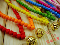 Wholesale Dog Collar Jewelry Bells - Wholesale - Dog Necklace Tag Colorful Pet Jewelry and Lovely Small Bell Mix Order 150pcs lot