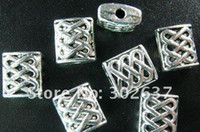 Wholesale Tibetan Square Spacer Beads - 150Pcs Tibetan silver knot square spacer beads A255