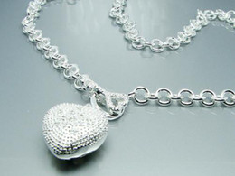 Wholesale Modern Asian Fashion - Modern 925 Silver fashion Heart charm chain necklace brand new