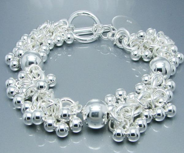 Vogue-sieraden 925 zilveren mooie druif kralen armband bedelarmbanden fit mooie doos