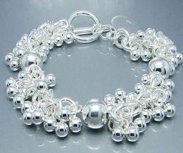 Argentina Joyería de moda 925 pulseras de plata hermosa pulsera de perlas de uva fit caja bonita Suministro