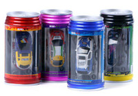 Wholesale Wholesale Mini Rc Cars - 10pcs lot Mini RC Racing Coke Can Car,Remote Control R C Car,4 Color Choices,Free Shipping!