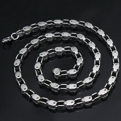 Charm 316L Rostfritt stål Mäns 3.6mm Bick Chain Halsband, 21,6 ''