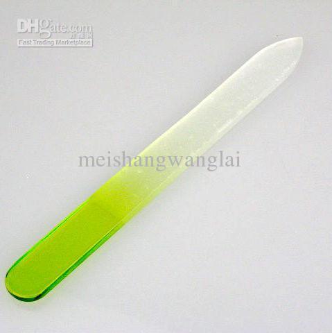Nail Buffer 12cm Glass Green 25 / pack Nail Art Lijado Archivo Buffer de Bloque Delgado Nail File Nail Tool
