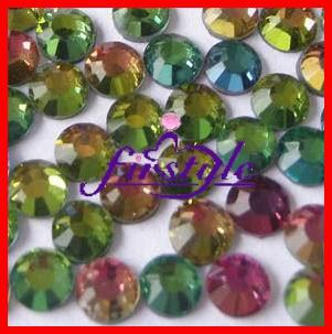 Hot Fix Rhinestones SS6 2mm Gökkuşağı Renk 1440pcs Demir On Rhinestone 6SS Hot Fix Taş