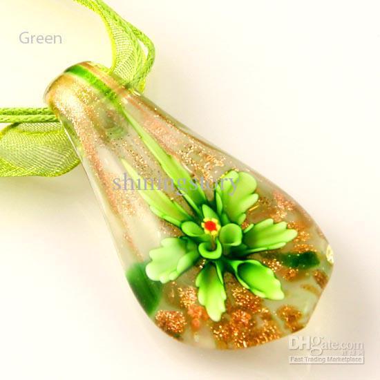 Классический лэмпворк с блеском из муранского стекла ручной работы изнутри итальянские венецианские подвески для ожерелий модные подвески колье Mup027