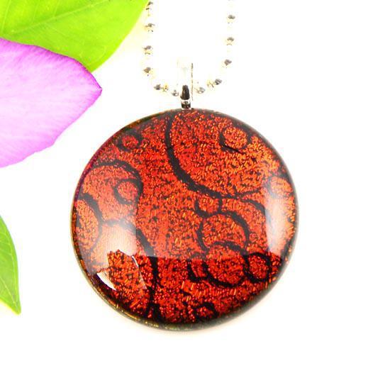 Модные цвета дихроичной стеклянной фольги круглого искусства из муранского стекла, подвески для ожерелий, бижутерия оптом Mup045