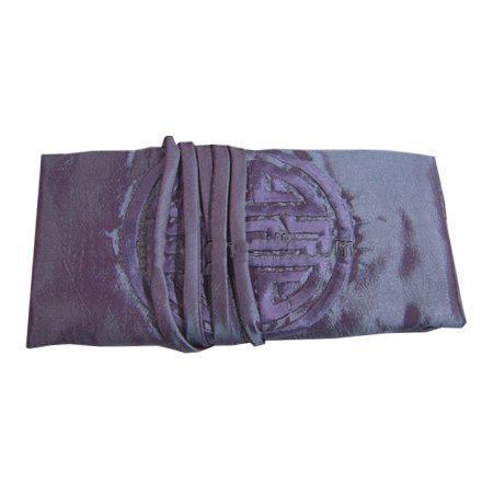Kinesisk broderi Glad Silk Travel Smycken Roll Bag Makeup Storage Bag Drawstring Large Women Cosmetic Bag 3 Zipper påse