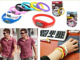 Wholesale Tourmaline Bracelets - 2000pcs lot Anion Health Sport Jelly Watch Tourmaline power Minus ion Wrist Bracelet Watches