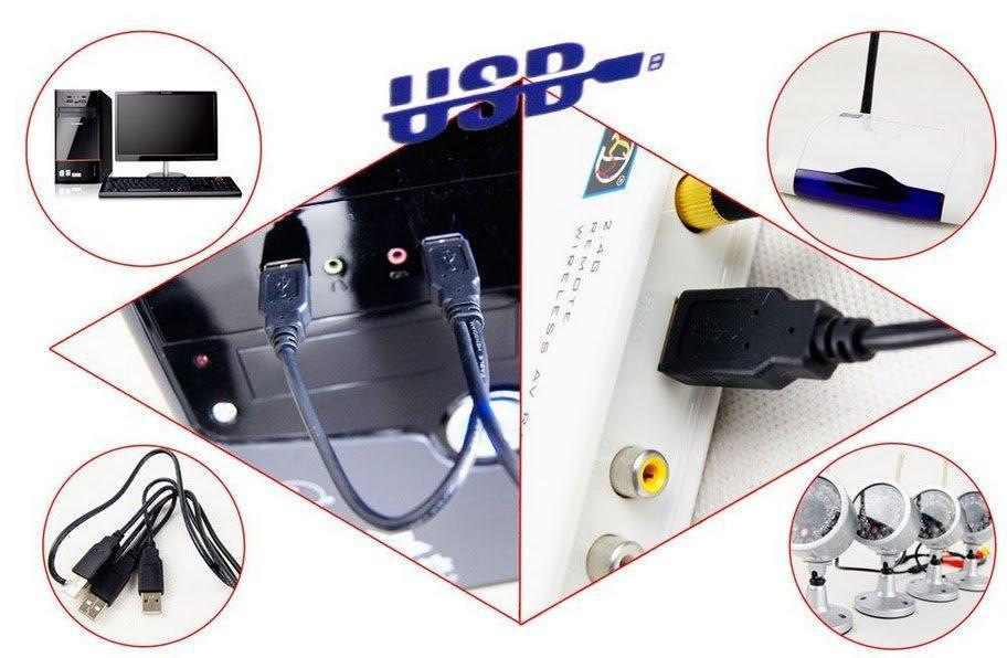 4 Kameras Wireless-Kit mit PC-Computer-basiertem DVR-Empfänger und 4 wasserdichtem Nachtsichtgerät W802Z4