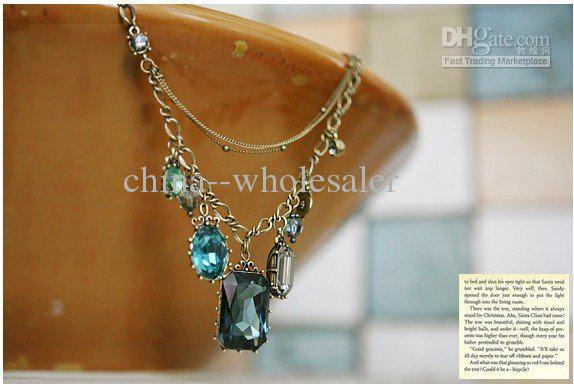 Hotting Temperament reine barocke Art-Schmucksache-Halsketten-Kristalledelstein-Anhänger-Halsketten 10pcs / lot