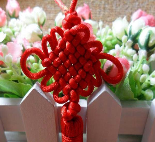 Lucky Red Chinese Knot Handiom Dzianiny Piękne Akcesoria Mody Lucky Akcesoria