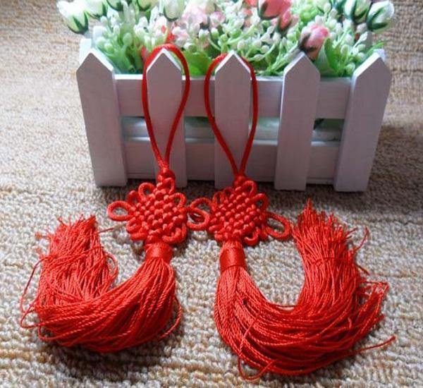 행운의 붉은 중국 매듭 세공 니트 아름다운 패션 액세서리 행운의 액세서리
