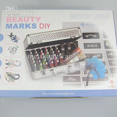 Body Painting Tattoo Deluxe Kit 38 Kleuren Supply Kit Glitter Tattoo Kit Body Art Luxurious Kit