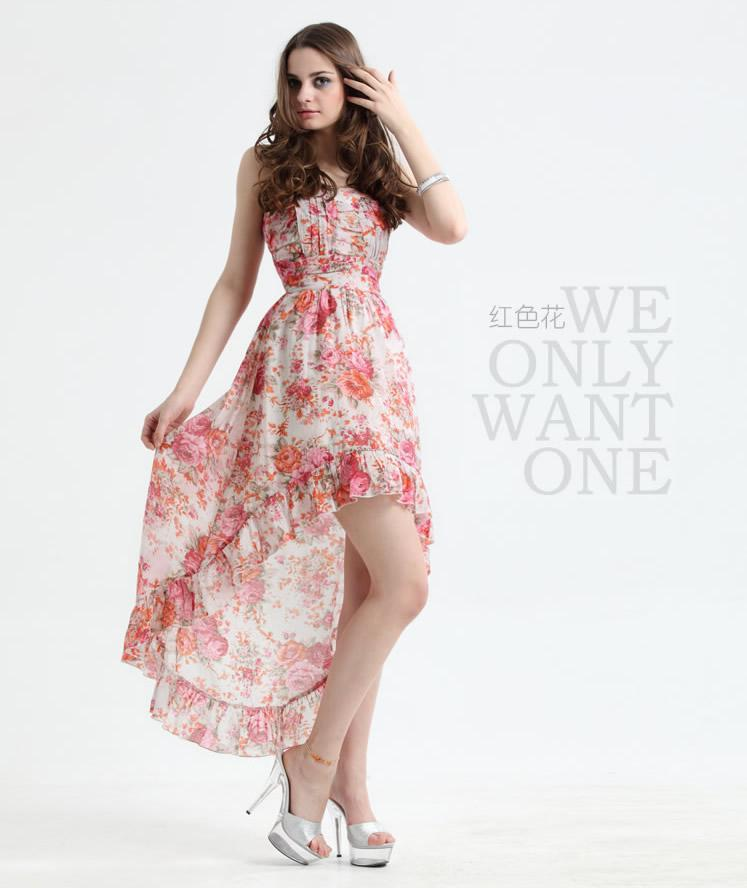 78bf03a689 2011 new style sexy casual dresses strapless sheath hi-lo hot sale fashion  dress