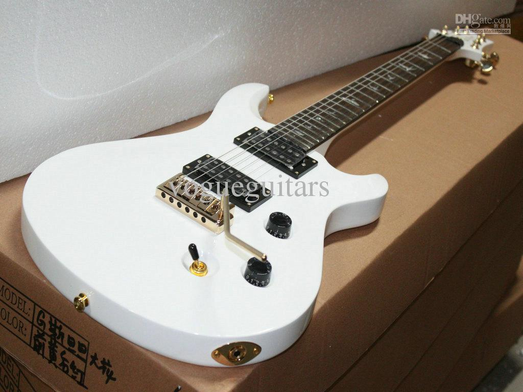 custom very beautiful white classic electric guitar