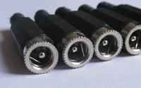 dişi konektör güç kaynağı dc toptan satış-100 adet DC Güç Kaynağı Soketi / Jack Kablo / Kordon Konnektör fişi DIY 5.5x2.5mm Kadın Lehim Tipi 5.5 2.5