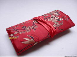 Wholesale Travel Jewel - Silk Jewellery Roll Bag Jewelry Gift Pouch 10pcs Mix Color 11* 7 inch Travel Jewel Roll Pouches
