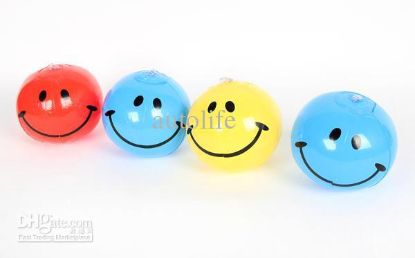 Small Toy Balls : Inflatable smiley face balls toy ball beach
