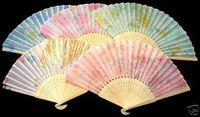 Wholesale Asian Folding Fans - Lots 100 pcs Handcraft Asian Chinese Silk undertone folding Bamboo Fans