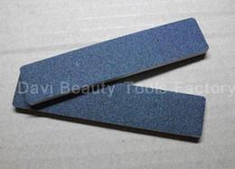 Wholesale Plastic Rectangular - nail file 50pcs lot Rectangular Black mini emery board file for nail art nail care freeshipping