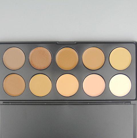 1 st / professionell concealer 10 färger concealer cream camouflage makeup palatte foundation concealer 0.21kg