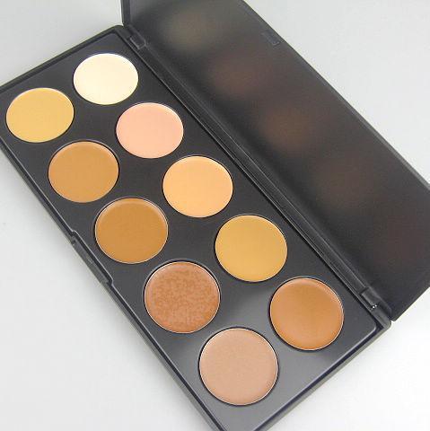 1 Sztuk / partia Profesjonalny Korektor 10 Kolory Korektor Krem Kamuflaż Makeup Palatte Foundation Concealer 0,21 kg