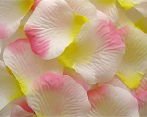 2000 قطع الأبيض الوردي الحرير الأصفر بتلات الزفاف تفضل حزب الديكور البتلة 2 بوصة العرض