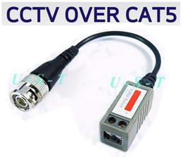Dvr Cctv NZ - CCTV Cat5 Passive Balun Video Camera DVR BNC 200pcs (100pair) Express free shipping High quality