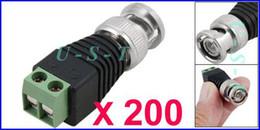 Wholesale Coax Cat5 Video Balun - CAT5 to Coax BNC Video Balun Connector CCTV Camera Lot(200) DHL Free shipping